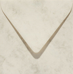 (No. 24062) 50x envelop Marble 160x160mm ivoor 90 grams