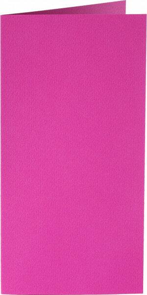 (No. 220912) 50x kaart dubbel staand Original 105x210mm-A5/6 felroze 200 grams