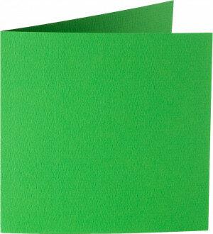 (No. 248907) 50x kaart dubbel staand Original 152x152mm grasgroen 200 grams