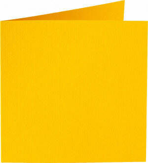 (No. 265910) 50x kaart dubbel staand Original 120x132mm dottergeel 200 grams (FSC Mix Credit)