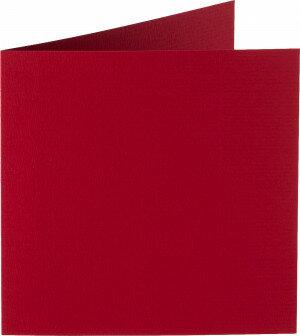 (No. 260943) 50x kaart dubbel Original 132x132mm kerstrood 200 grams