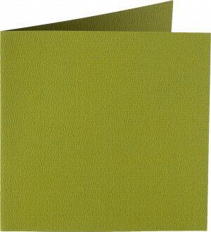 (No. 248951) 50x kaart dubbel staand Original 152x152mm mosgroen 200 grams