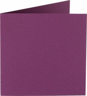 (No. 310909) 6x kaart dubbel Original 132x132mm aubergine 200 grams (FSC Mix Credit)