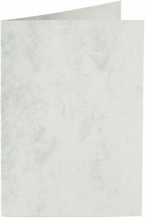 (No. 22261) 50x kaart dubbel staand Marble 105x148mm-A6 grijswit 200 grams