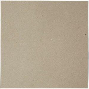 (No. 264322) 50x scrap karton recycled kraft grijs 302 x 302 mm - 220 grams (FSC Recycled 100%)