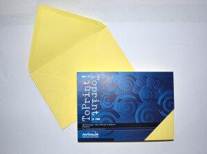 (No. 2358304) 25x envelop 156x220mm-A5 ToPrint medium yellow 120 grams (FSC Mix Credit)