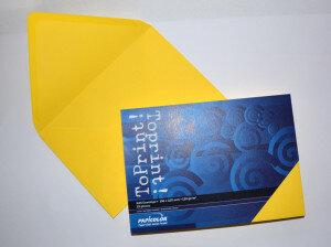 (No. 2358305) 25x envelop 156x220mm-A5 ToPrint limon 120 grams (FSC Mix Credit)