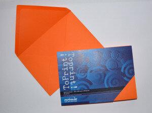(No. 2358308) 25x envelop 156x220mm-A5 ToPrint orange 120 grams (FSC Mix Credit)