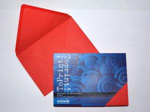 (No. 2358309) 25x envelop 156x220mm-A5 ToPrint rood 120 grams (FSC Mix Credit)