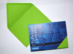 (No. 2358318) 25x envelop 156x220mm-A5 ToPrint grasgroen 120 grams (FSC Mix Credit)