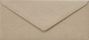 (No. 238322) 50x envelop 110x220mm- DL Recycled Kraft Grijs 100 grams (FSC Recycled 100%)
