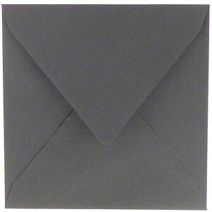 (No. 240971) 50x envelop 160x160mm Original donkergrijs 105 grams (FSC Mix Credit)