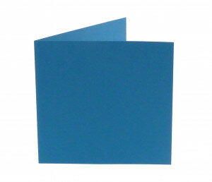 (No. 248965) 50x kaart dubbel staand Original 152x152mm korenblauw 200 grams