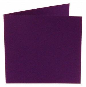 (No. 248968) 50x kaart dubbel staand Original 152x152mm violetta 200 grams