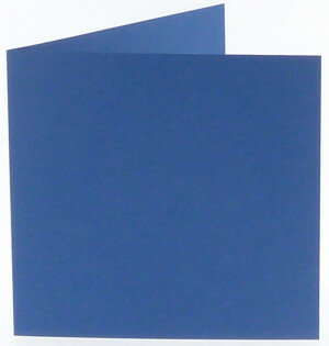 (No. 248972) 50x kaart dubbel staand Original 152x152mm royal blue 200 grams