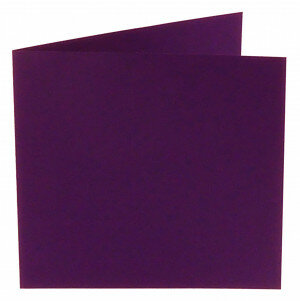 (No. 260968) 50x kaart dubbel Original 132x132mm violetta 200 grams