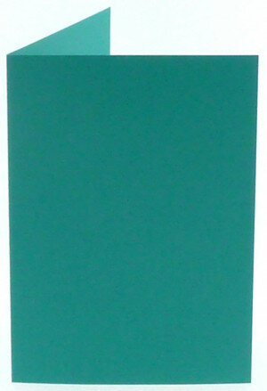 (No. 309966) 6x kaart dubbel staand Original 105x148mm A6 turquoise 200 grams (FSC Mix Credit)