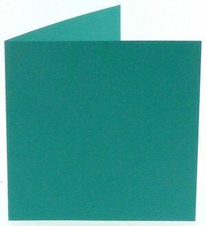 (No. 311966) 6x kaart dubbel staand Original 152x152mm turquoise 200 grams (FSC Mix Credit)