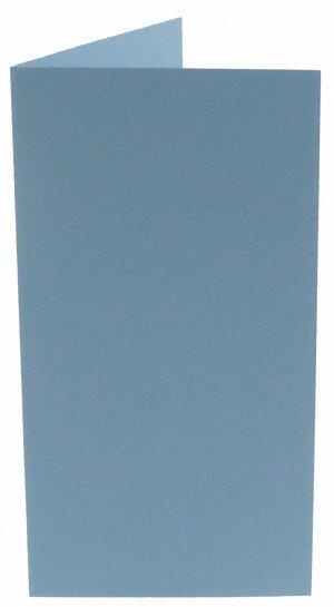 (No. 312964) 6x kaart dubbel staand Original 105x210mm (EA5/6) lichtblauw 200 grams (FSC Mix Credit)