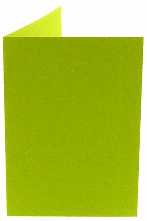 (No. 313967) 6x kaart dubbel staand Original 148x210mm A5 appelgroen 200 grams (FSC Mix Credit)