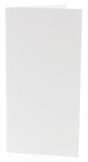(No. 220321) 50x kaart dubbel staand 105x210mm- DL Recycled Kraft Wit 220 grams (FSC Recycled Credit)