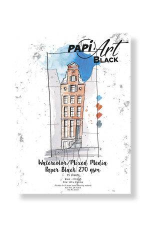 (No. 364330) Aquarel/Mixed Media papier Black 63-90 150x210mm 270g 15 vel