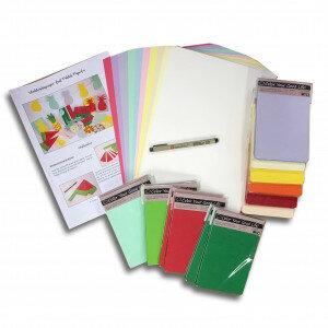 (No. 850504) Zomerknutselpakket OP=OP Verschillende papier en kartonsoorten incl. handleiding