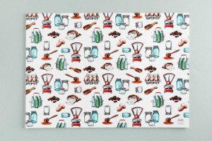 (Art.no. 910030) Blok a 10 A3 Placemat Style Grocery - Karlijn van de Wier