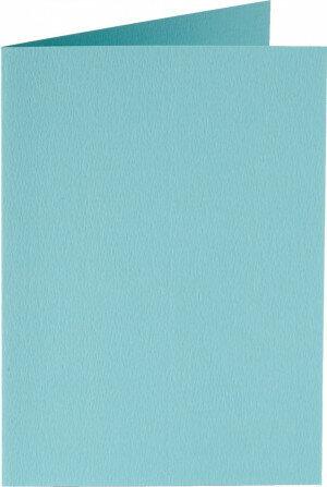 (No. 332904) 6x kaart dubbel staand Original 54x86mm Azuurblauw 200 grams (FSC Mix Credit) - UITLOPEND -
