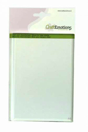 (No. 130501/1910) CraftEmotions blok voor clearstempel A6 105x148mm - 8mm