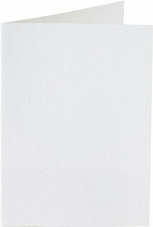 (No. 321930) 6x kaart dubbel staand Original 84x132mm hagelwit 200 grams