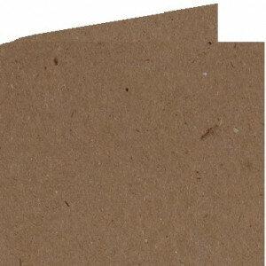 (No. 310323) 6x Dubbele kaart 132x132mm kraft bruin 220 grams (FSC Recycled 100%)