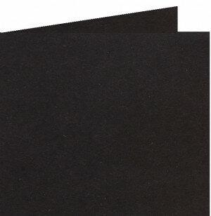 (No. 310324) 6x Dubbele kaart 132x132mm kraft zwart 220 grams (FSC Recycled Credit)