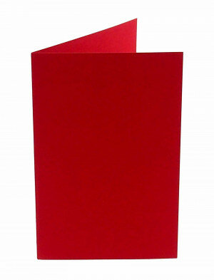 (No. 327918) 6x kaart dubbel staand Original 115x175mm rood