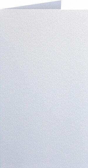 (No. 220330) 50x kaart dubbel staand Original Metallic 105x210mm-A5/6 Pearlwhite 250 grams (FSC Mix Credit)