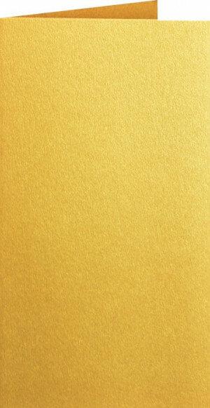 (No. 312333) 3x kaart dubbel staand Original Metallic 105x210mm-A5/6 Super Gold 250 grams
