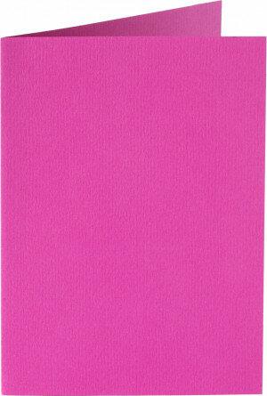 (No. 222912) 50x kaart dubbel staand 105x148mm- A6 felroze 200 grams (FSC Mix Credit)