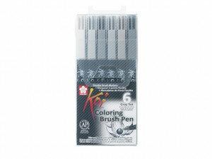 (Art.no. XBR6A) KOI Color Brush Set 6 st.