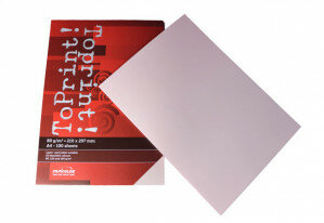 (No. 7128302) 100x papier ToPrint 80gr 210x297mm-A4 Rosa(FSC Mix Credit) - UITLOPEND-