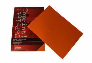 (No. 7128308) 100x papier ToPrint 80gr 210x297mm-A4 Orange(FSC Mix Credit) - UITLOPEND-