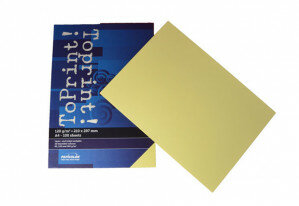(No. 7138304) 100x papier ToPrint 120gr 210x297mm-A4 Medium yellow(FSC Mix Credit) - UITLOPEND-