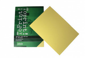(No. 7148304) 50x karton ToPrint 160g 210x297mm-A4 Medium yellow(FSC Mix Credit) - UITLOPEND-
