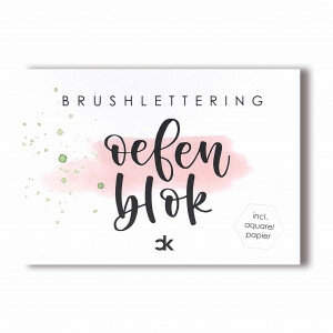 (No. 216600) A6 Oefenblok Brushlettering Carla Kamphuis