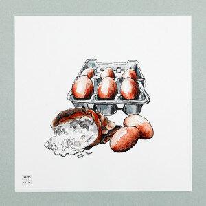 (Art.no. 910015) Poster 'Grocery' Eggs Design Karlijn van de Wier