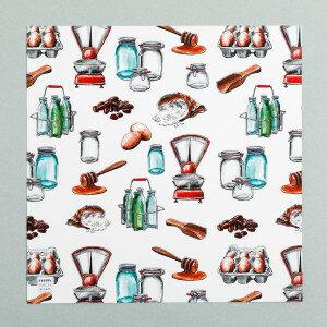 (Art.no. 910011) Poster 'Grocery' Patern Design Karlijn van de Wier