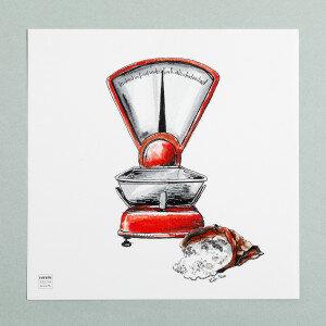 (Art.no. 910014) Poster 'Grocery' Scale Design Karlijn van de Wier