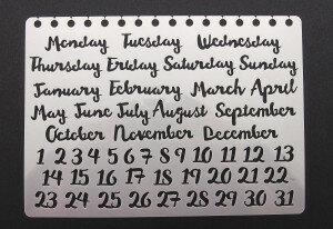 (No. 830211) Stencil month/days