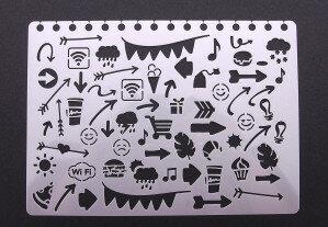 (No. 830210) Stencil doodles