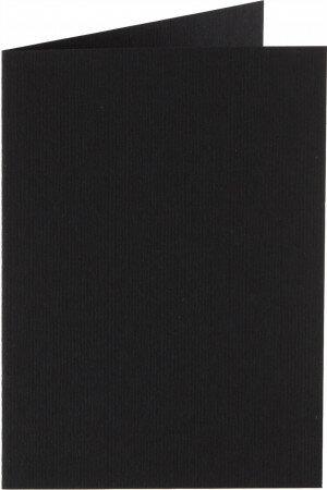 (No. 332901) 6x kaart dubbel staand Original 54x86mm ravenzwart 200 grams (FSC Mix Credit) - UITLOPEND -