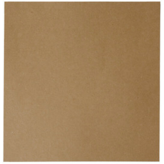 (No. 298323) 10x scrap cardboard recycled kraft brown 302 x 302 mm - 220 gsm (FSC Recycled Credit)